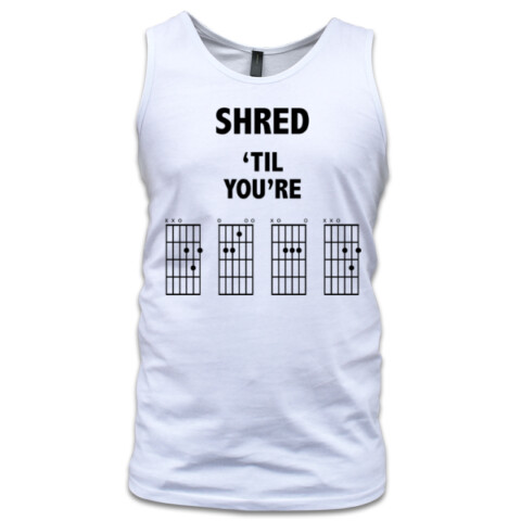 Shred 'Til You're Dead Tee - Light Colours - In-Tune Accessories
